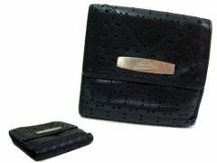 廃盤 Jean Paul GAULTIER ジャンポールゴルチエ メタルプレート カットワークレザー折財布 (ゴルチェ 鞄カバン) 048563