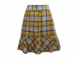 COMME CA ISM (COMME CA DU MODE) チェック柄フレアスカート (Plaid skirt flare) コムサイズム コムサデモード 049009