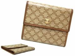 vintage old CELINE クラシックマカダムモノグラム ウォレット折財布 (ヴィンテージオールドセリーヌ) 049222