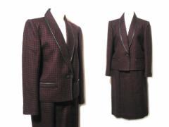 LEGGERO「Onword」レザーパイピングツィードセットアップスーツ (leather piping tweed set up suit) スカート ジャケット レ 049458