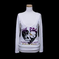 JOKY GAL アナーキードクロカットソー,ロングスリーブTシャツ (Anarchic skull cut sew,Long sleeve T-shirt) ジョーキーギャ 049656