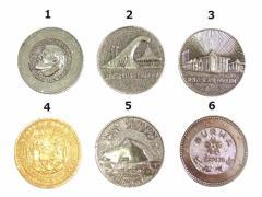 Vintage EXPO70 大阪万博 パビリオン記念メダル ソ連・オーストラリア・ニュージーランド・ハワイ・インド・ビルマ (ビンテージ) 049879