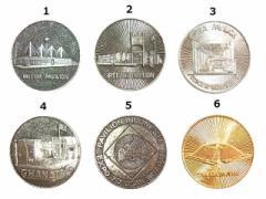 Vintage EXPO70 大阪万博 パビリオン記念メダル 英国・アイルランド・韓国・ガーナ・インドネシア・カナダ (ビンテージ) 049885