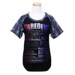 【新品】SEX POT ReVeNGe セックスポット リベンジ「M」黒パイソンラグランパンクTシャツ (半袖カットソー ゴスロリ) 049914