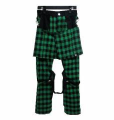 HELL CAT PUNKS 緑ブロックチェックボンテージパンツ「エプロンスカート付き」(ヘルキャットパンクス) 050403