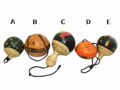 アフリカ ホボ 伝統楽器ひょうたんマラカス (Gourd maraca) AFLICA 工芸品 民族 瓢箪 050743