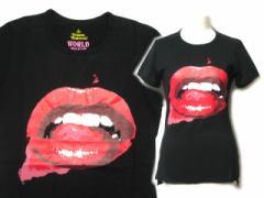 【新品】Vivienne Westwood 回顧展限定「M」黒リップTシャツ (bladk lip T-shirt) ヴィヴィアンウエストウッド MAN マン 050783
