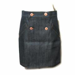新品同様 Jean Paul GAULTIER ジャンポールゴルチエ「40」デニム セーラー巻きスカート (ゴルチェ パンク フェム) 051543
