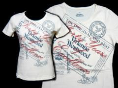 【新品】Vivienne Westwood ヴィヴィアンウエストウッド シューズエキシビジョン 限定 ポストカードTシャツ (ビビアン) 052005