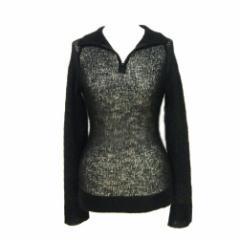 REBECCA DANENBERG モヘヤニットセーター、カットソー (A black mohair knit sweater, cut-and-sew) レベッカ ダネンバーグ 052074