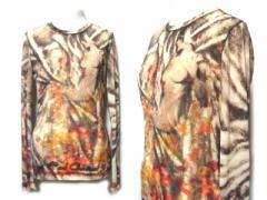 Jean Paul GAULTIER FEMME ジャンポールゴルチエ フェム「40」楽園裸体ストレッチカットソー (ゴルチェ ファム Tシャツ) 053019