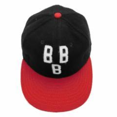 【新品】COOPERSTOWN BALL CAP Co. クーパーズタウン ボールキャップ 1948 黒×赤 バーミンガムブラックバロンズ (帽子) 053601