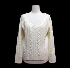 【新品】TRALALA (LIZ LISA) プリンセスケーブルニット、セーター (Princess cable knit, sweater) トゥーララ リズリサ 054202