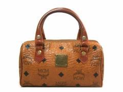 vintage old MCM ヴィンテージオールド エムシーエム GERMANY クラシックモノグラムレザー ボストンバック (鞄カバン) 054332