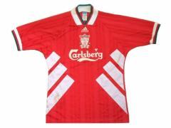 vintage adidas UK made LIVERPOOL FC Game shirt (ヴィンテージアディダス 英国製 リバプールゲームシャツ) イギリス Tシ 055637