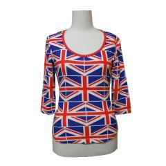 SUPER LOVERS ユニオンジャックカットソー (Union Jack cut-and-sew) スーパーラヴァーズ ラバーズ Tシャツ 056053【中古】