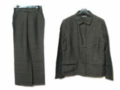 MARGARET HOWELL マーガレットハウエル クラシックリネンセットアップパンツスーツ (シャツジャケット ブルゾン) 056308