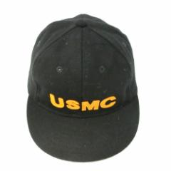 【新品】COOPERSTOWN BALL CAP Co. クーパーズタウン ボールキャップ 1922 黒 USMC フェルトロゴ (帽子 海兵隊) 056315