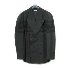 80s vintage Jean Paul GAULTIER HOMME ジャンポールゴルチエ オム「M」アバンギャルドカットワーク刺繍ジャケット (ゴルチェ) 056660