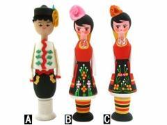 BULGARIA Rose Perfume Wooden doll (ブルガリア ローズ香水入り 木製ハンドメイド人形) 東欧 パルファム マトリョウシカ 056769