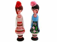 BULGARIA Rose Perfume Wooden doll (ブルガリア ローズ香水入り 木製ハンドメイド人形) 東欧 パルファム マトリョウシカ 056783