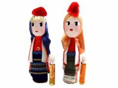 BULGARIA Rose Perfume Wooden doll (ブルガリア ローズ香水入り 木製ハンドメイド人形) 東欧 パルファム マトリョウシカ 056786