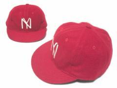 【新品】COOPERSTOWN BALL CAP CO. 1935CAP ニューヨークブラックヤンキース レッド ボールキャップ刺繍 (クーパーズタウン) 057158