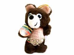 vintage 1980 MOSCOW OLYMPIC モスクワオリンピック MISHA こぐまのミーシャ ぬいぐるみ 人形 (ASAHI製 五輪マスコット) 057771