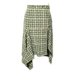 Vivienne Westwood イタリア製 アシンメトリーチェック柄スカート (ヴィヴィアンウエストウッド) 057849