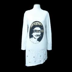 "Banana Fish ""セディショナリーズ""アシンメトリーカットソー、ロングTシャツ (Asymmetric cut-and-sew, long T-shirt) バナナ 057940"