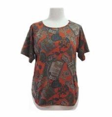 wavegal「S」バロックパターンカットソー (Baroque pattern cut-and-sew, T-shirt) Tシャツ 058488