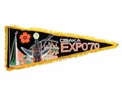 vintage EXPO70 大阪万博 太陽の塔 ペナント (Pennant tower of the sun) エキスポ EXPO 70 ヴィンテージ ビンテージ 059604