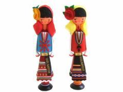 BULGARIA Rose Perfume Wooden doll (ブルガリア ローズ香水入り 木製ハンドメイド人形) 東欧 パルファム マトリョウシカ 059790