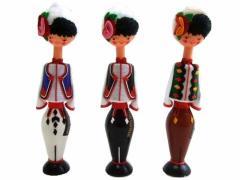 BULGARIA Rose Perfume Wooden doll (ブルガリア ローズ香水入り 木製ハンドメイド人形) 東欧 パルファム マトリョウシカ 059794