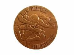 vintage 1964 TOKYO OLYMPIC 東京オリンピック 亀倉雄策 記念メダル (五輪 ヴィンテージ ビンテージ) 059912
