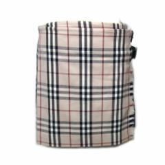 BURBERRY LONDON「UK8」タータンチェックキルト巻スカート (バーバリー ロンドン)■