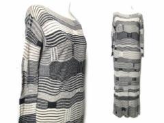 ヨーガンレール「M」リネン変則ボーダーワンピース (linen border one-piece) JURGEN LEHL ドレス 麻 060522