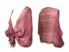 ヨーガンレール「M」オリエンタルショール・ストール・マフラー (oriental shawl) JURGEN LEHL 草木染 絹 060526