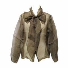 ヨーガンレール「M」オリエンタルリボン絹ブラウス (oriental ribbon silk blouse) JURGEN LEHL 草木染 シルク シャツ 060527