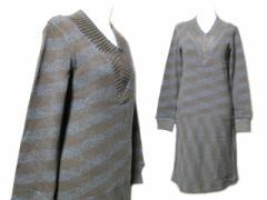 【新品】beauty:beast「S」Horizontal stripe knit dress ビューティー ビースト ボーダーニットワンピース (ドレス) 061655