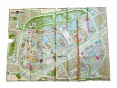 vintage EXPO70 大阪万博 大判会場地図 (Large venue map) エキスポ EXPO70 ヴィンテージ ビンテージ マップ 061768【中古】