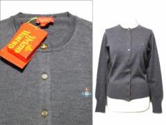 【新品】Vivienne Westwood ITALY Gray one ORB plane wool knit cardigan ヴィヴィアンウエストウッドイタリア製 ワンオーブ 062063