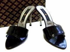 PATRICK COX ITALY「37」イタリア製 メタル チェーン ヒール レザー シューズ (パトリック コックス) 062430