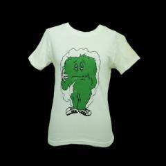 未使用 展示品 廃盤 HOT BOX SESSIONS. ホットボックスセッションズ キャラクター Tシャツ (半袖 デッドストック 白) 062636