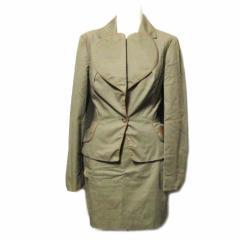 Vivienne Westwood ITALY ヴィヴィアンウエストウッド「40」イタリア製レザーパイピング ラブジャケット スーツ (セットアップ) 062798