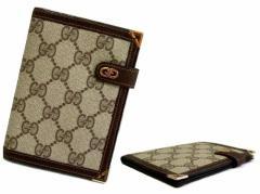 vintage old GUCCI ヴィンテージ オールド グッチ イタリア製 モノグラム ウォレット・折財布 (ビンテージ) 063111