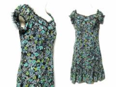 ANNA SUI「4」Flower frill dress (アナスイ フラワー フリル ドレープ ワンピース) ドレス 063317