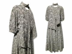 80s vintage INGEBORG Paisley dress with the shawl ヴィンテージ インゲボルグ ショール付 ペイズリー柄 ワンピース (PINK H 064005