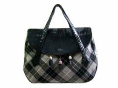90s vintage Vivienne Westwood 90年代 ヴィンテージ ヴィヴィアンウエストウッド マックマラ タータンチェック レザーバッグ 鞄 066012