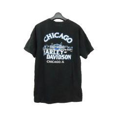 vintage HARLEY DAVIDSON ハーレーダビッドソン「L」シカゴ 限定 イーグル ロゴ Tシャツ (カットソー) 067129